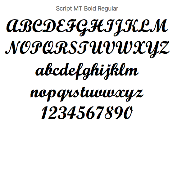 Tipopgrafía Script para escoger para hacer el nombre en madera