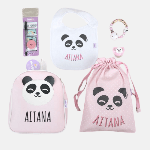 Pack vamos al cole panda rosa