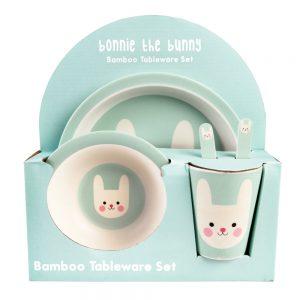 Vajilla bebé Bambú Boonie the Bunny