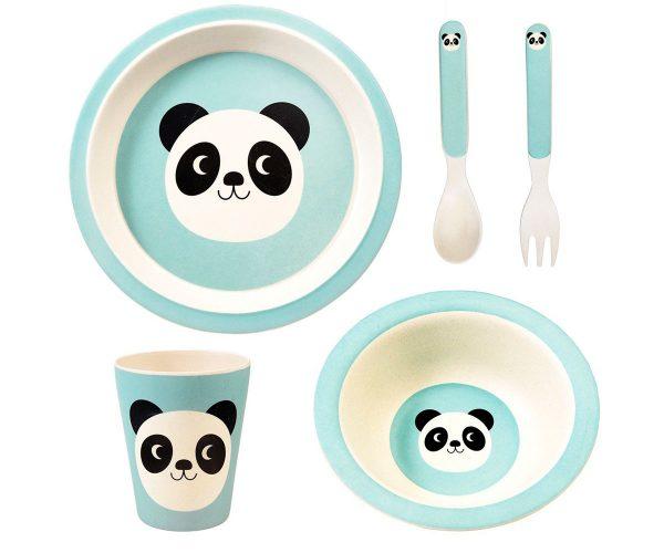 Vajilla bebé Bambú Miko the panda