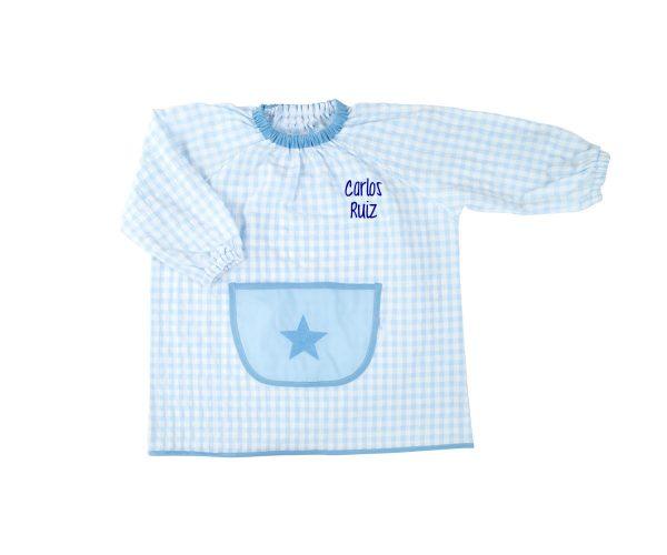 Bata guardería estrella color azul
