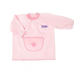 Bata guardería estrella color rosa